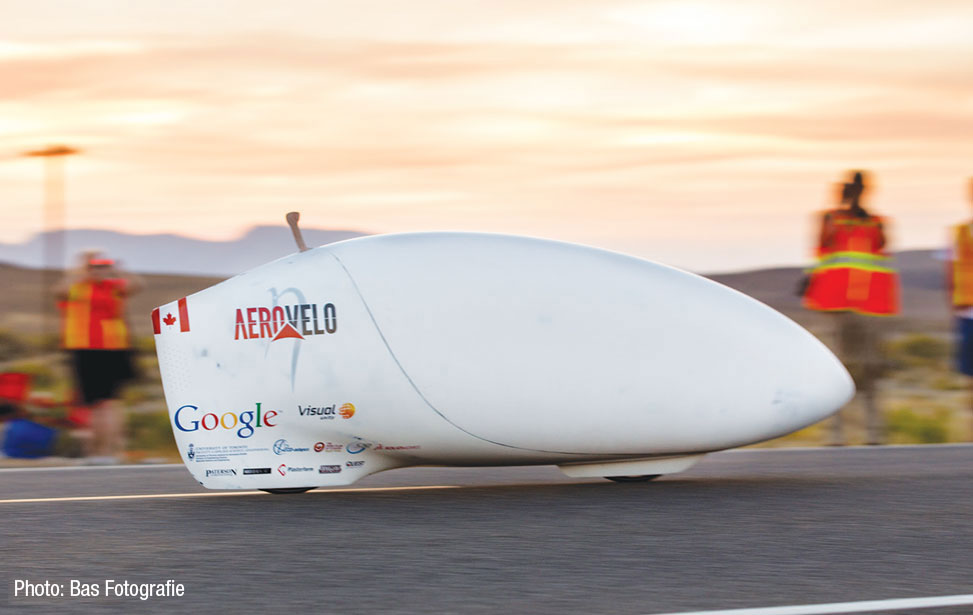 "Team AeroVelo's high-speed aerodynamic bicycle or ""Speed Bike"""