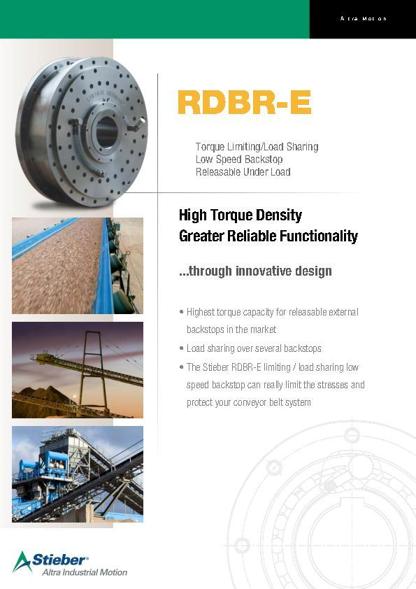 (A4) RDBR-E Low Speed Backstop