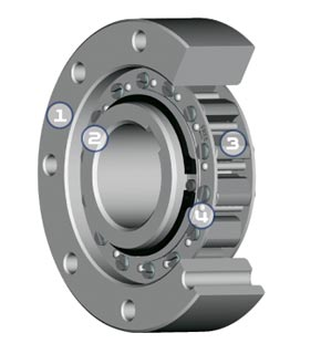 Sprag Type One Way Clutch 3d Rendering